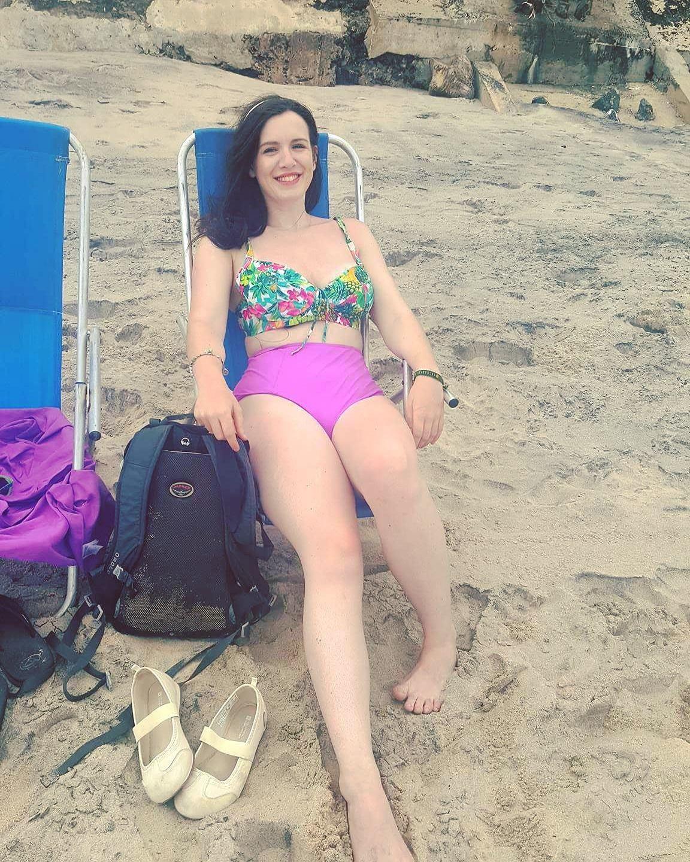 cazzy on beach