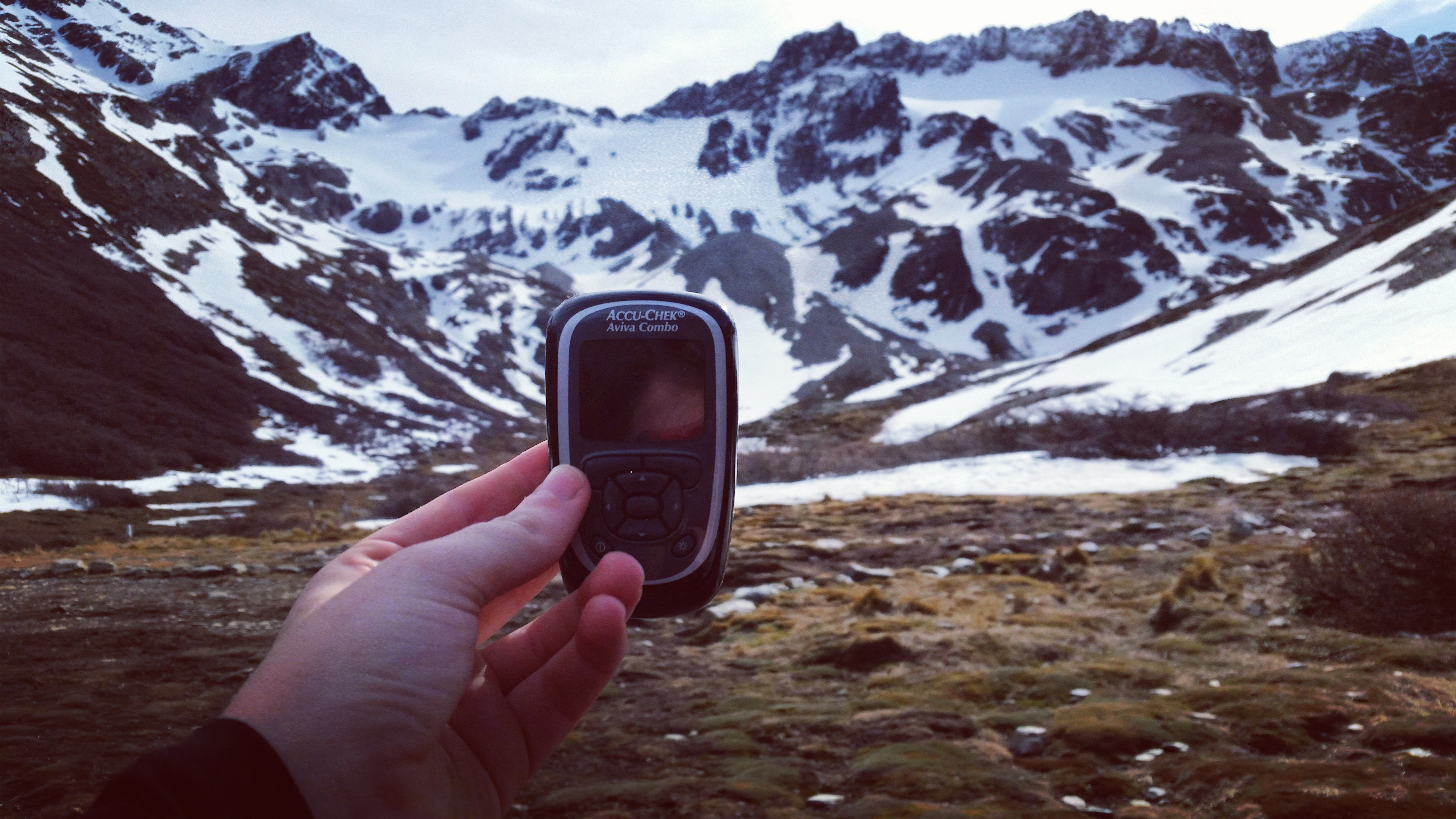 glucose monitor in mountains