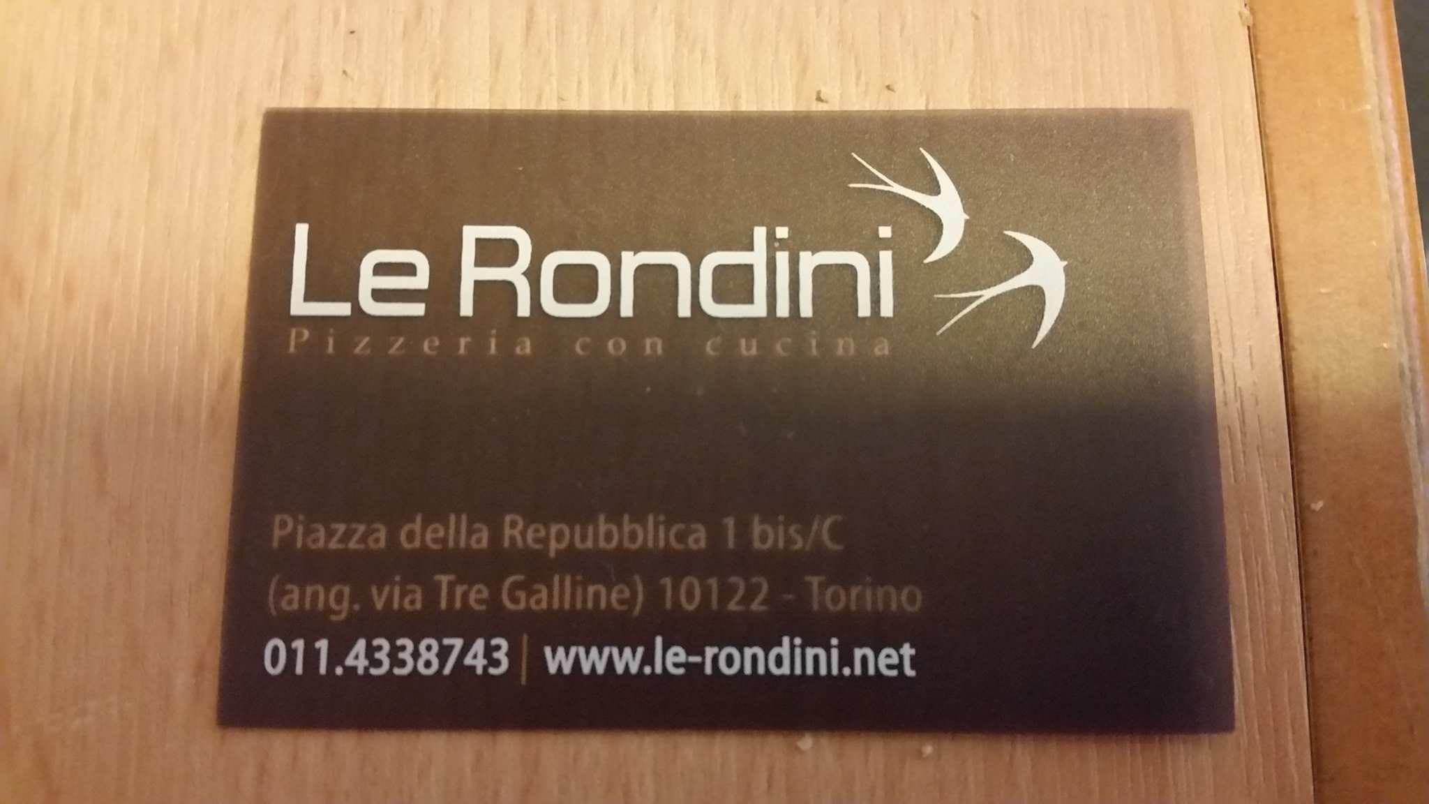 Le Rondini Pizza restaurant in Turin