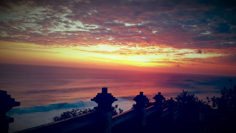 Sunset at Uluwatu Beach in Bali