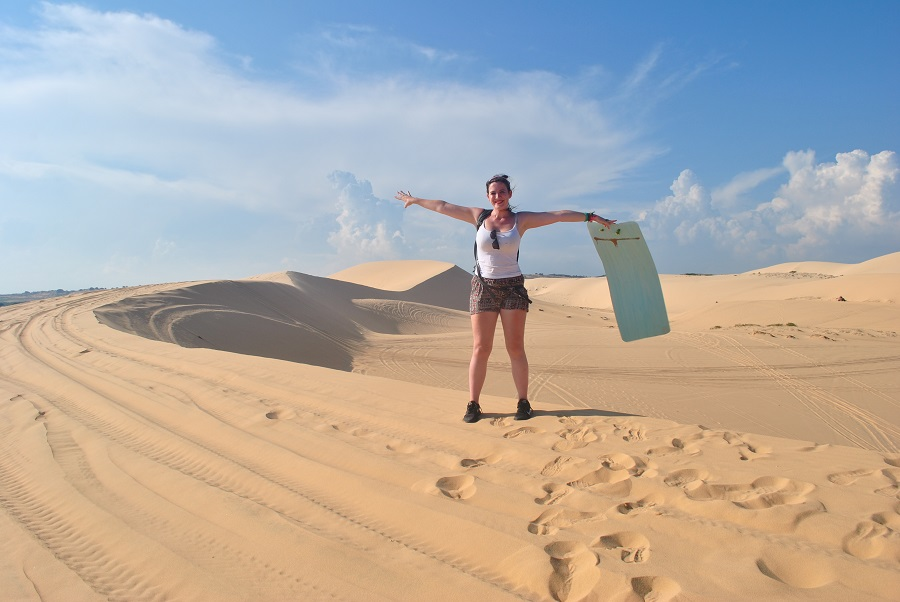 White sand dunes in Mui Ne