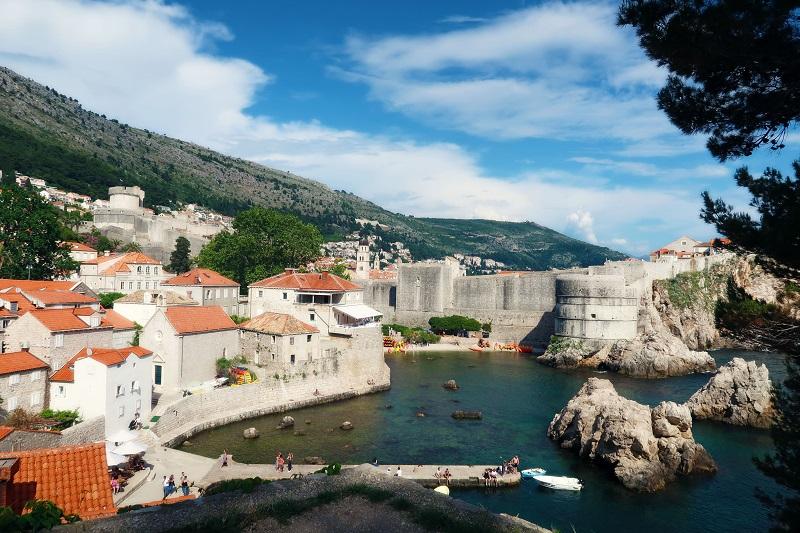 View from Fort Lovrijenac in Dubrovnik