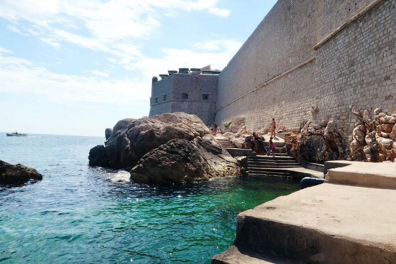Go swimming in Dubrovnik