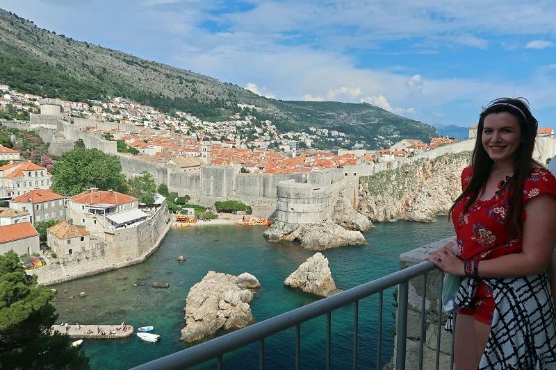 Looking down at Dubrovnik