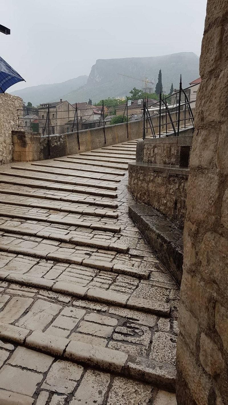 Stairs over Mostar Bridge
