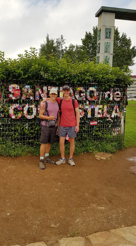 Arriving in Santiago de Compostela