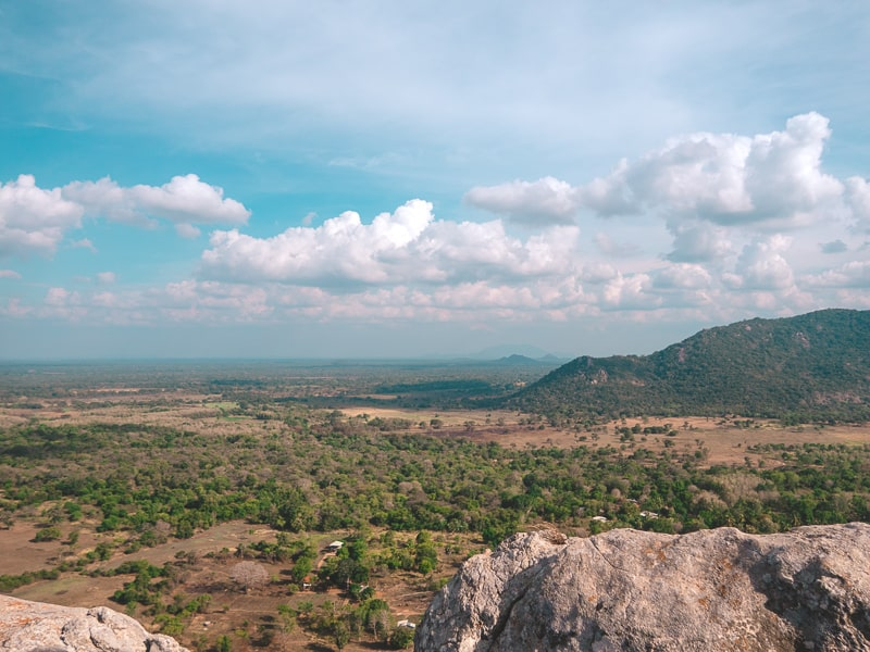 view from Mihintale mountain, Anuradhapura