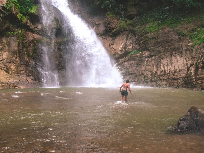 Swimming in Ellawala Waterfall