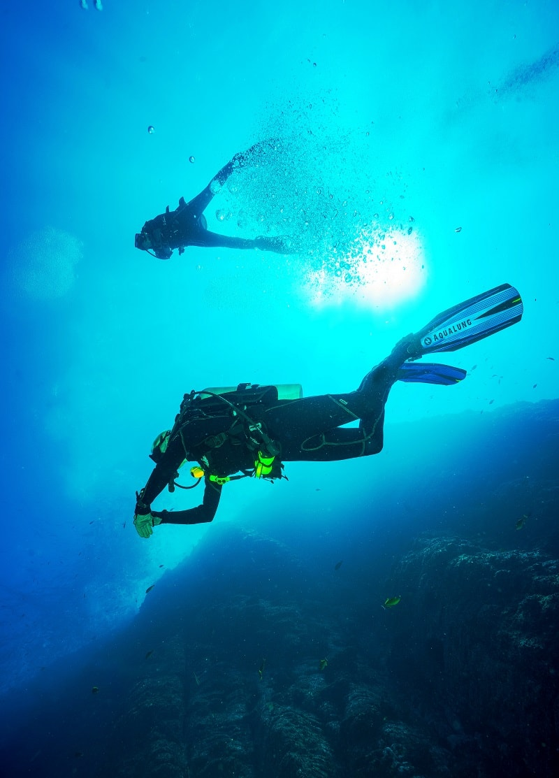 diving in trincomalee