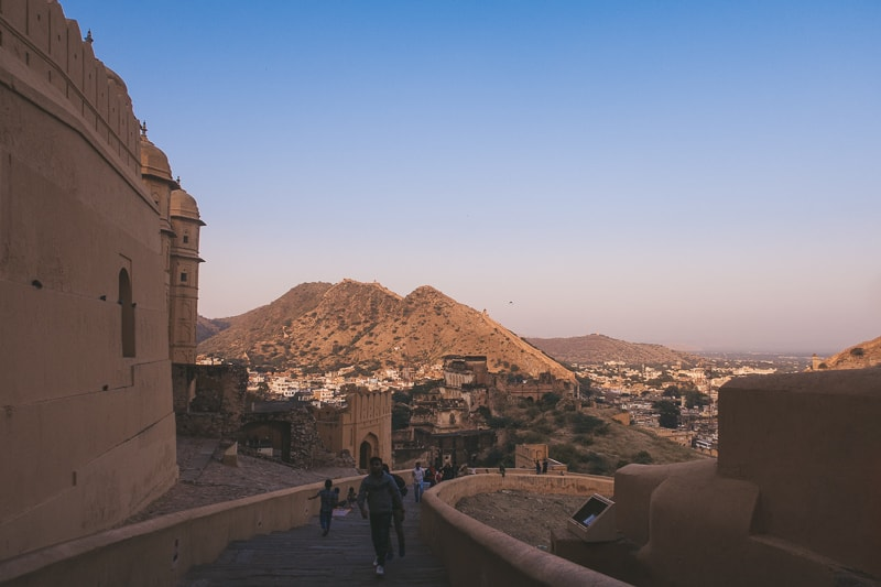 View of Amer Fort in Jaipur
