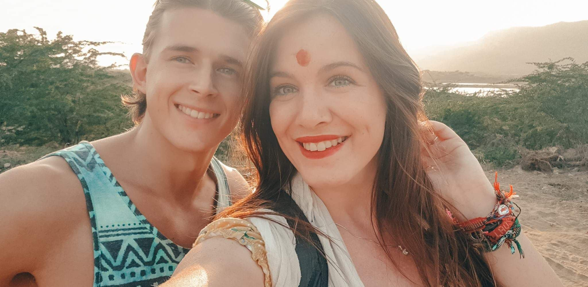 selfie at pushkar lake
