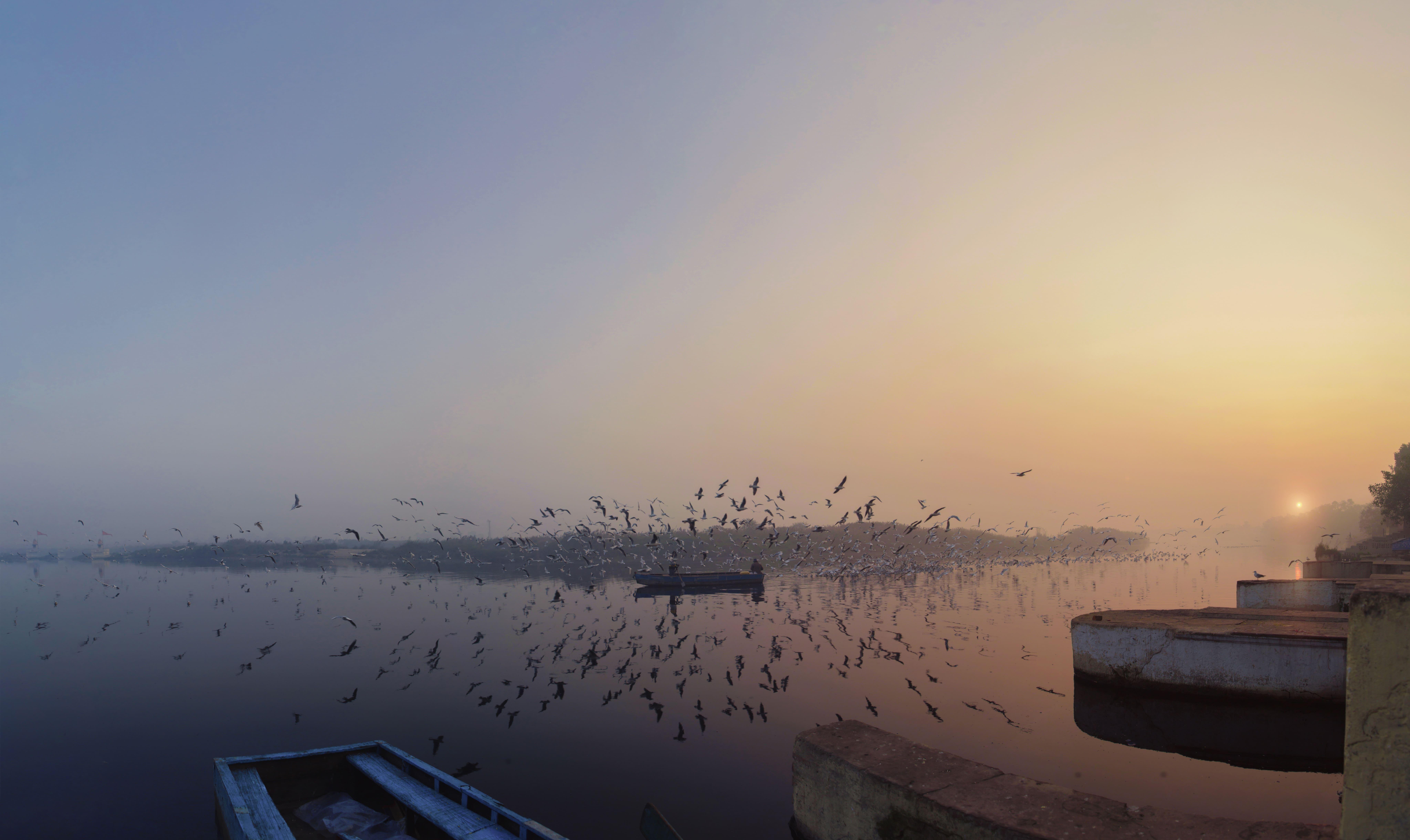 lake in delhi