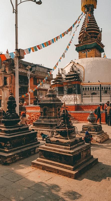 stupas in thamel