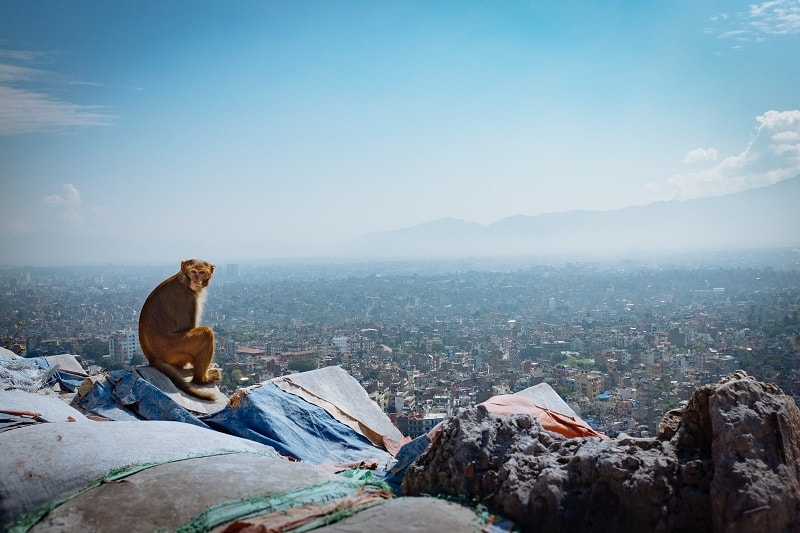 view of kathmandu from above
