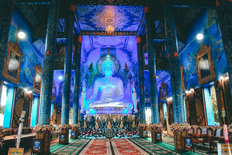 buddah in blue temple