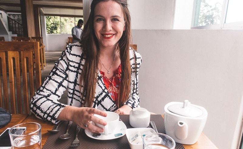 Drinking tea at Tea Factory