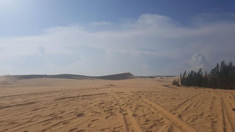 white sand dunes in Mui Ne in Vietnam
