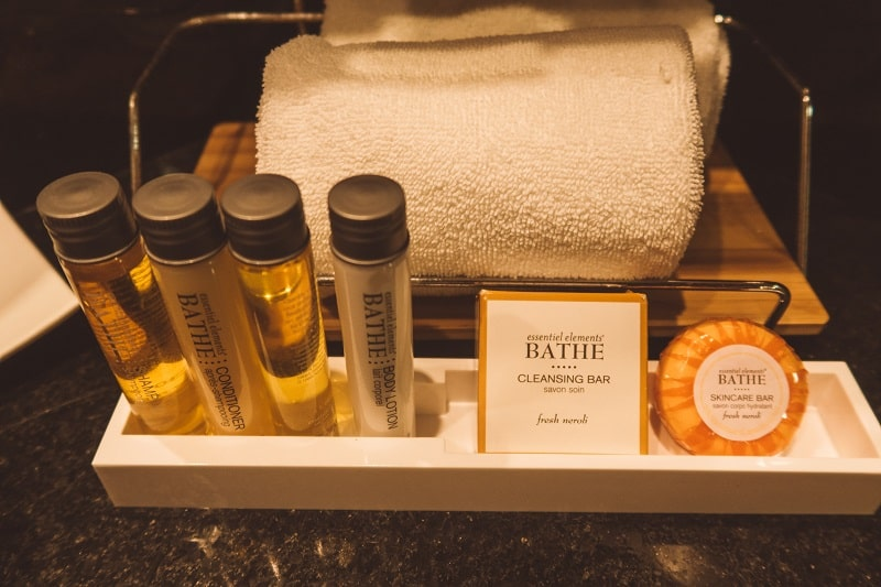 amenities at magic blue boutique hotel