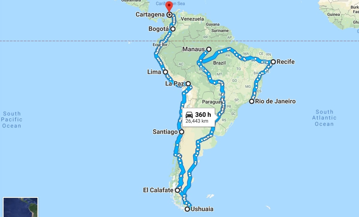 Our backpacking itinerary South America