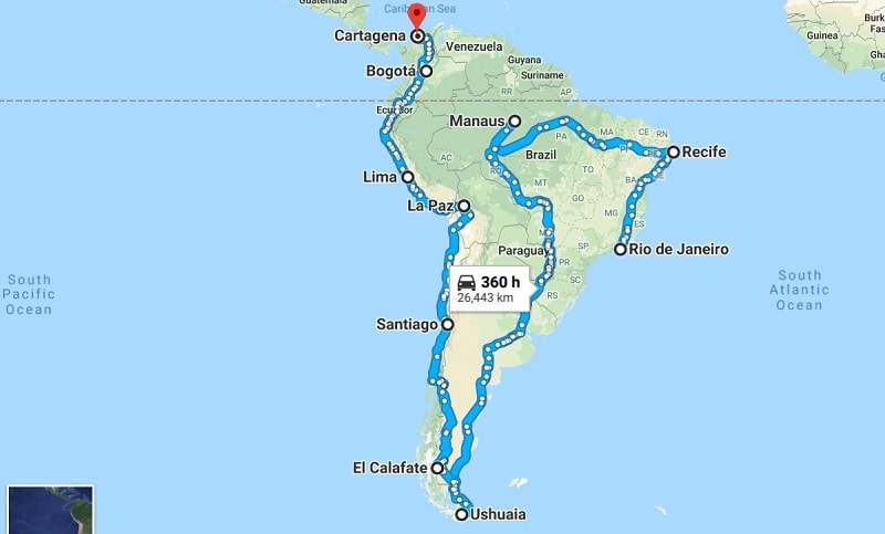 our 4 month south america backpacking itinerary