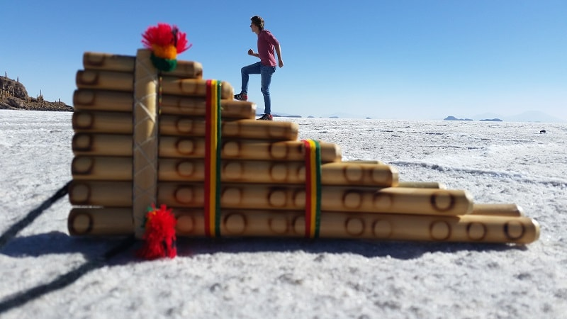 funny image bolivia salt flats