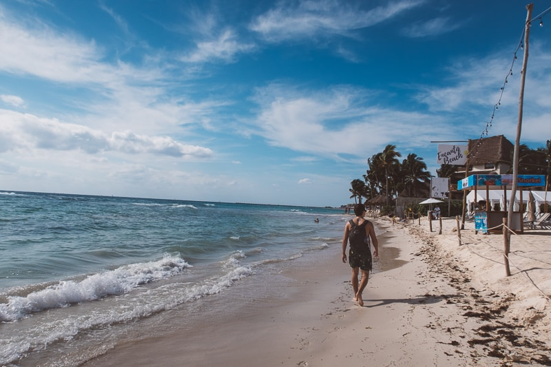 brad at beach in playa del carmen