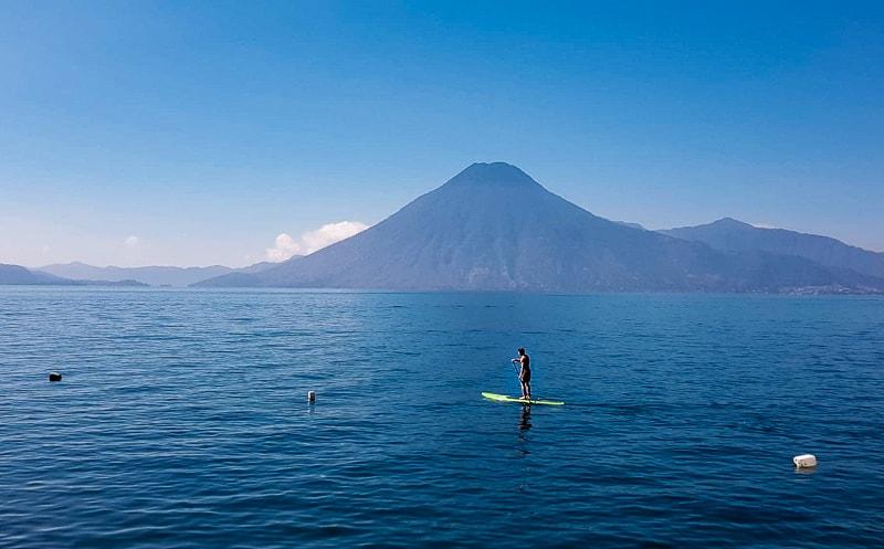paddleboarding lake atitlan