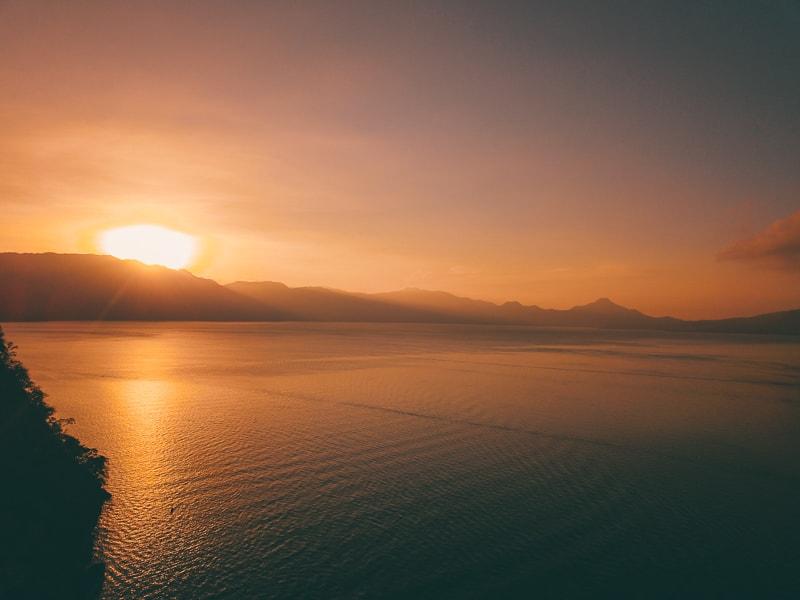 sunsets on lake atitlan