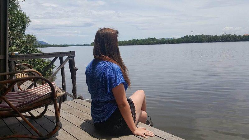 looking at Kampot river