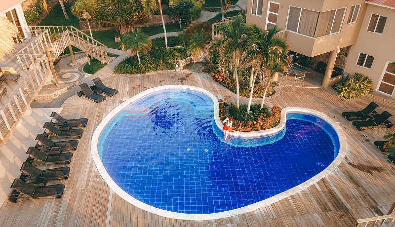 swimming pool at casa de mar