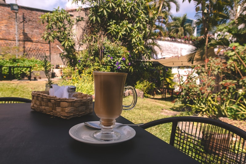 enjoy a coffee in the garden