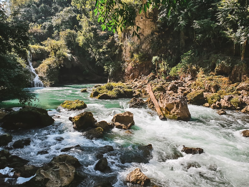 rapids leading from semuc champey