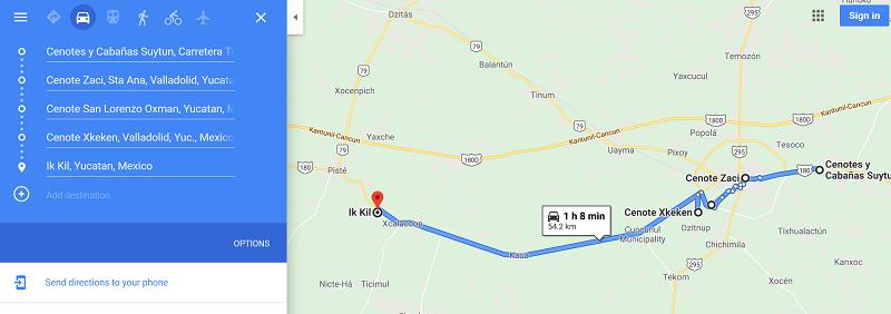 cenote route