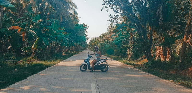 driving around siargao
