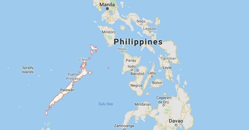 map of Palawan