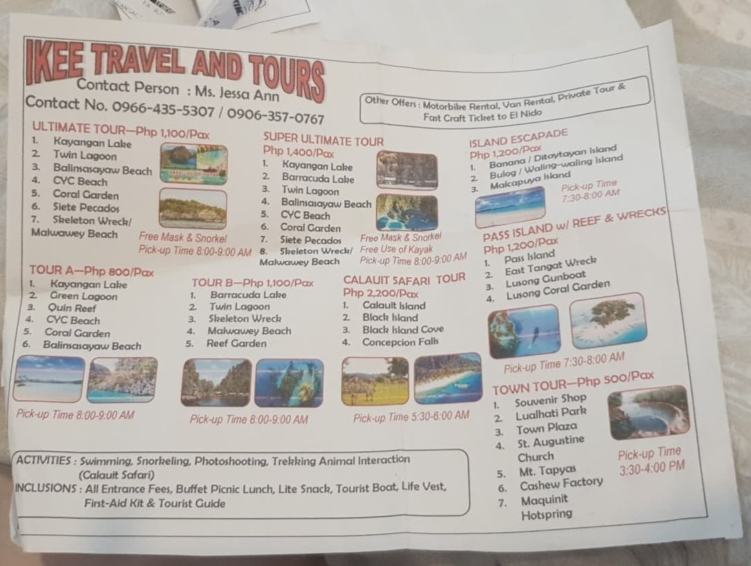 coron island tour outline 1