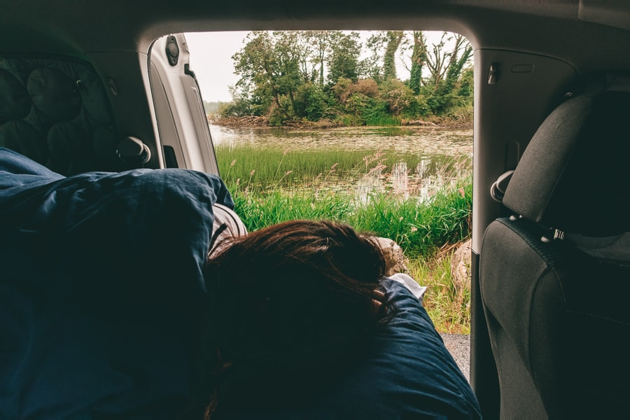morning views with campervan