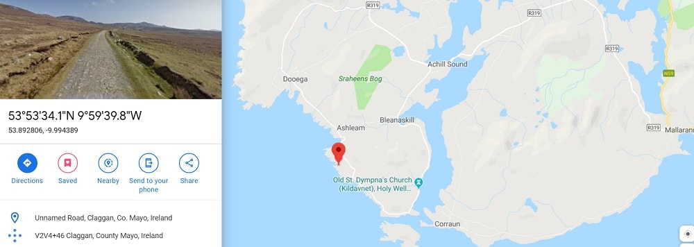 camping location on Achill Island
