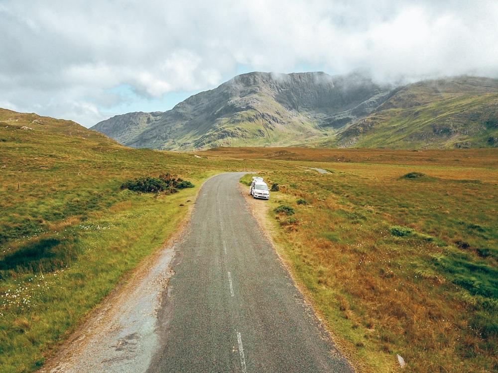 driving campervan in ireland