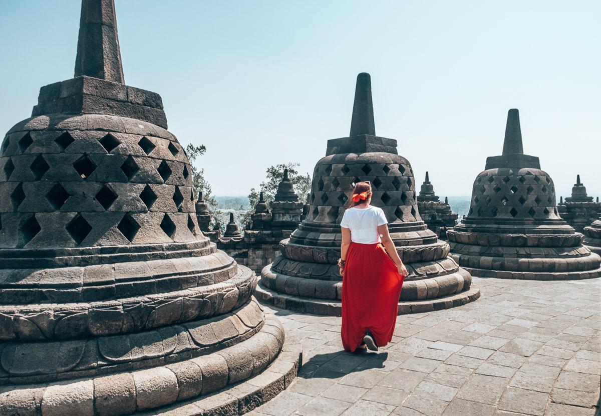 cazzy at Borobudur Temple