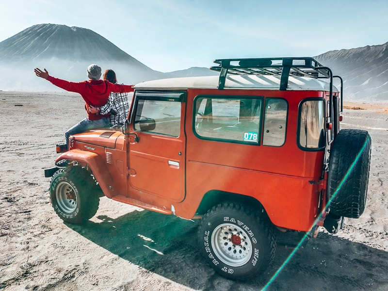 jeep at mount bromo