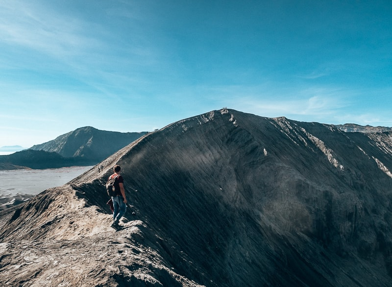 top of crater at mount bromo
