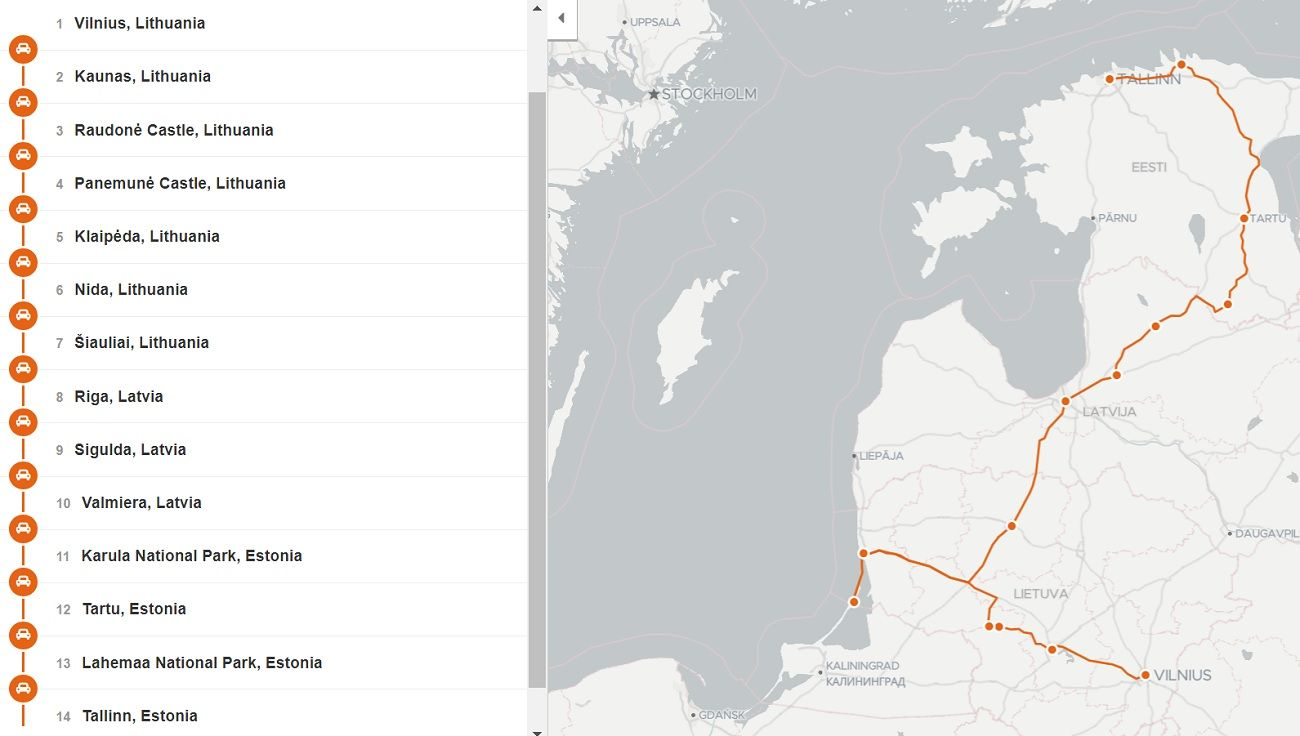 our 2 week Baltic road trip itinerary