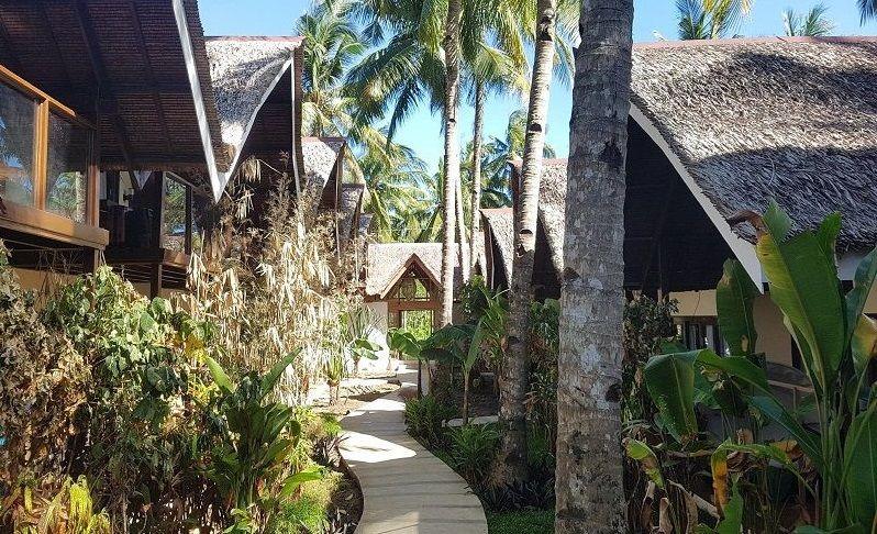 the hillside resort in Siargao