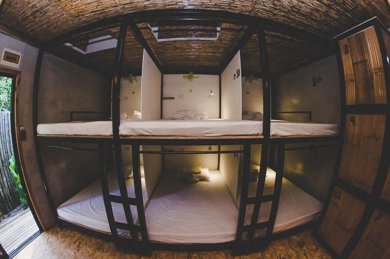 Mad Monkey hostel room in Siargao