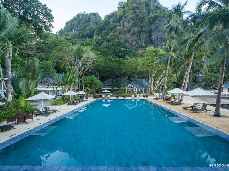pool at El Nido Resorts in Lagen Island