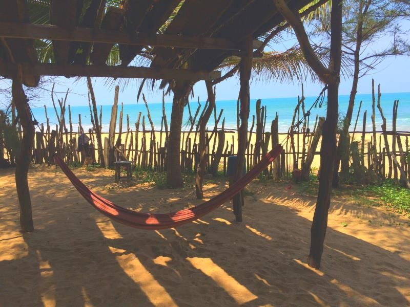 hammock at Beach Hut Guesthouse