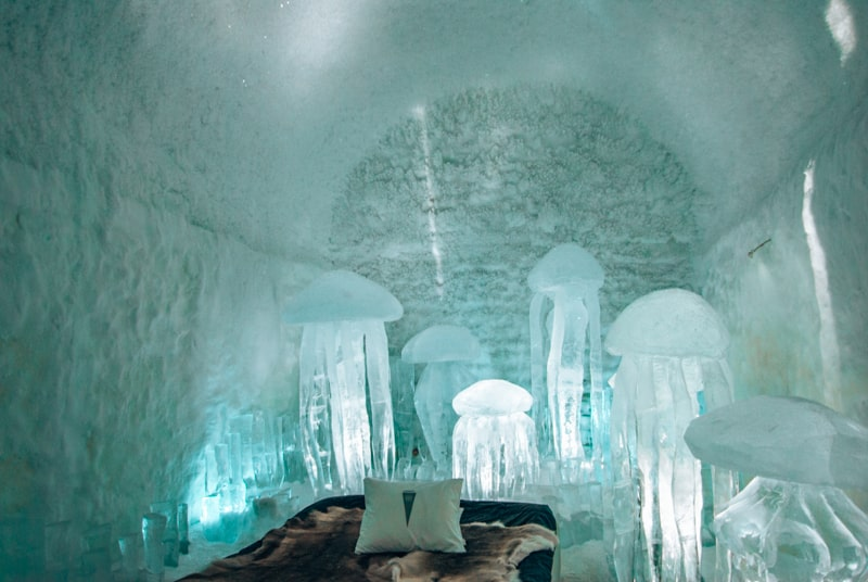 ice rooms in sweden