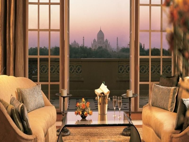 View of the Taj Mahal from The Oberoi Amarvilas