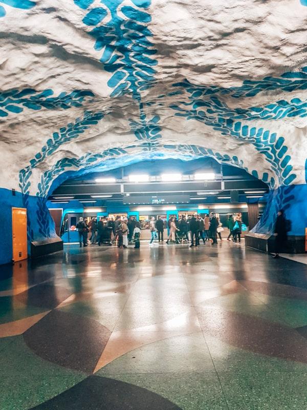 subway art in stockholm